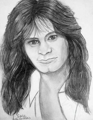 Van Halen Drawing - Eddie Van Halen by Manon Zemanek