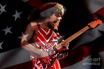 Van Halen Mixed Media - Eddie Van Halen by Marvin Blaine