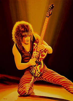 Dutch Painting - Eddie Van Halen Painting by Paul Meijering