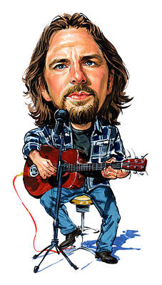 Musicians Paintings - Eddie Vedder by Art