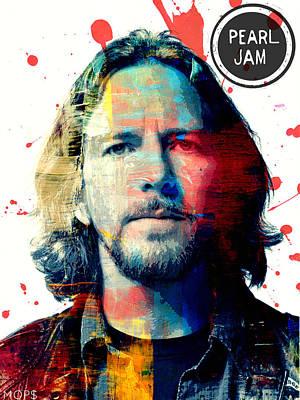 Pearl Jam Digital Art - Eddie Vedder by Jessica Echevarria