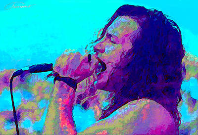 Pearl Jam Painting - Eddie Vedder by John Travisano