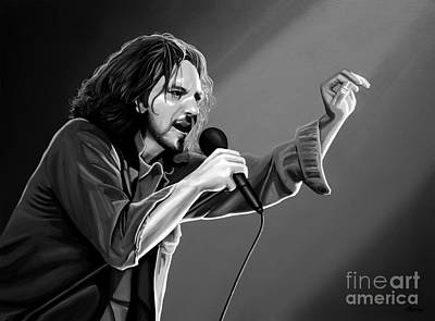Grunge Mixed Media - Eddie Vedder  by Meijering Manupix