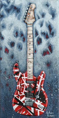 Rock Guitar Painting - Eddie's Frankenstrat by Arturo Vilmenay