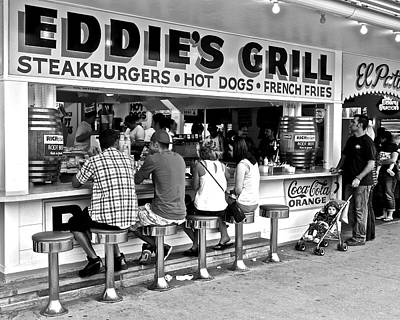 Hot Dogs Photograph - Eddie's Grill by Frozen in Time Fine Art Photography