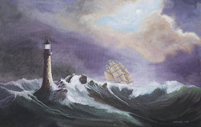 Eddystone Lighthouse Art Print by Jerry McElroy