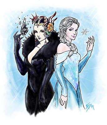 Digital Art - Edea And Elsa by Miguel Karlo Dominado