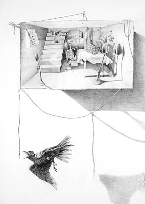 Swooping Drawing - Eden Box by Dona D Barnett