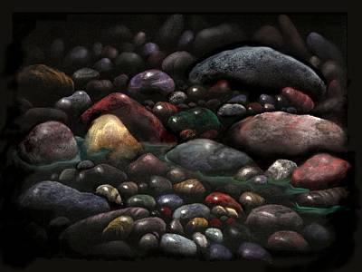 Eden Brook Stones Art Print