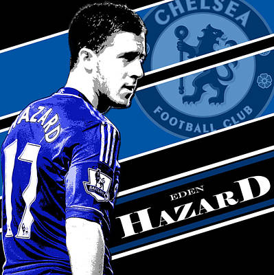 Oscars Wall Art - Photograph - Eden Hazard Chelsea Print by Pro Prints