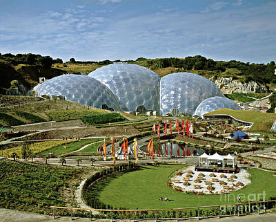 Photograph - Eden Project 2002 by David Davies