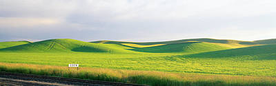 Whitman Photograph - Eden Train Stop, Palouse, Whitman by Panoramic Images