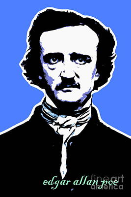 Photograph - Edgar Allan Poe 20140914poster V1 by Wingsdomain Art and Photography