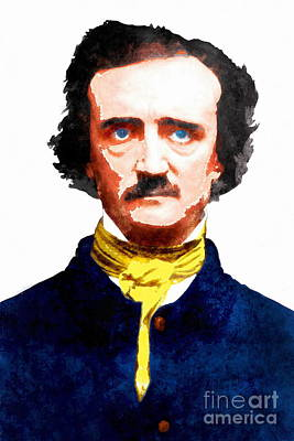 Photograph - Edgar Allan Poe 20140914wc V2 by Wingsdomain Art and Photography