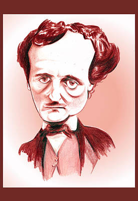 Digital Art - Edgar Allan Poe Illustration by Diego Abelenda
