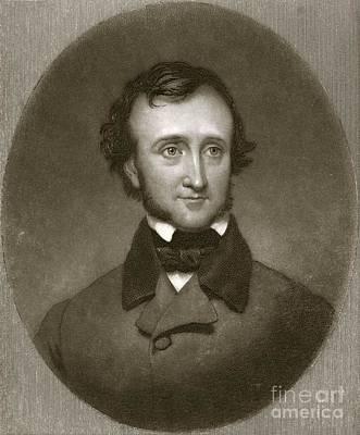 Edgar Allan Poe, Us Author And Poet Art Print