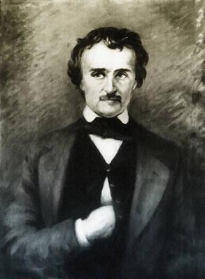 Edgar Allen Poe  Art Print by Bill Cannon