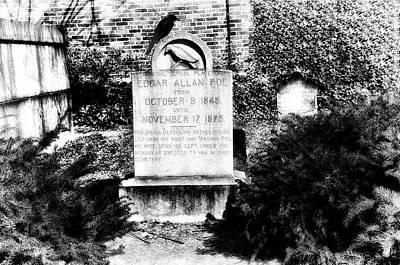 Edgar Allen Poe Grave Site Baltimore Print by Bill Cannon