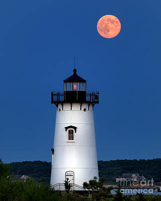 Lighthouse Photograph - Edgartown Light By Moonlight by Mark Miller