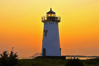 Art Print featuring the photograph Edgartown Light by Dan Myers