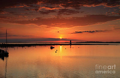 Photograph - Edgartown Light Sunrise by Butch Lombardi
