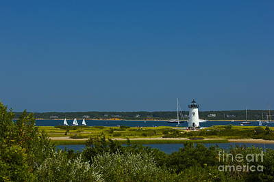 Photograph - Edgartown Lighthouse by Amazing Jules