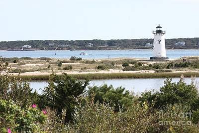 Edgartown Lighthouse With Wildflowers Art Print by Carol Groenen