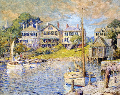 Edgartown  Martha's Vineyard Art Print by Colin Campbell Cooper