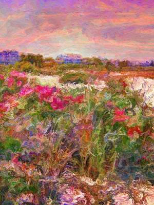 Painting - Edgartown Shoreline Roses - Vertical by Lyn Voytershark
