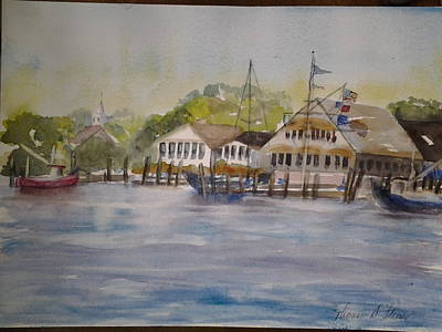 Painting - Edgartown Yacht Club by Tom Steiner