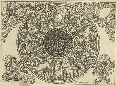 Edge Of Circular Plate With Leaf Tendrils Art Print by Anthonie De Winter And C. De Moelder