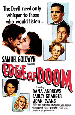 Jergens Photograph - Edge Of Doom, Us Poster,  Center by Everett