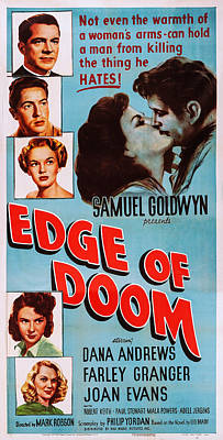 Jergens Photograph - Edge Of Doom, Us Poster, Left From Top by Everett