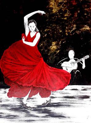 Flamenco Mixed Media - Edge Of Flight by Harsha Jagasia