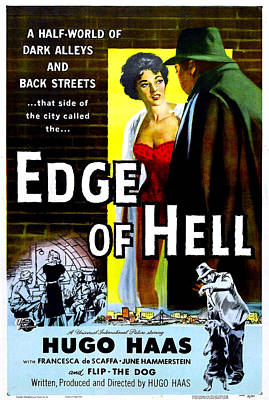 Edge Of Hell, Us Poster, From Center Art Print by Everett
