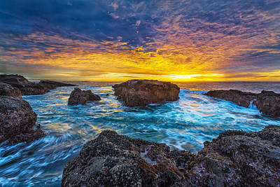 Ocean Sunset Wall Art - Photograph - Edge Of North America by Robert Bynum