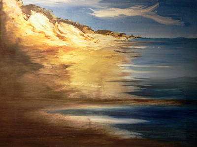 Sand Dunes Painting - Edge Of The Country by Joseph Gallant