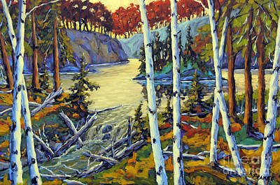 Quebec Painting - Edge Of The Lake By Prankearts by Richard T Pranke