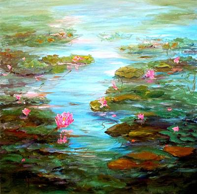 Painting - Edge Of The Lily Pond by Barbara Pirkle