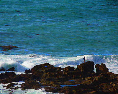 Photograph - Edge Of The Pacific by Timothy Bulone