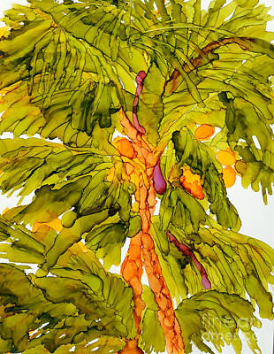 Painting - Edge Of The Palm Tree Grove by Vicki  Housel