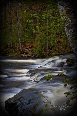 Edge Of The Stream Art Print by Greg DeBeck