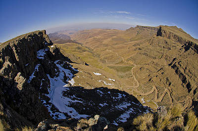 Lesotho Photograph - Edge Of The World by Aaron Bedell