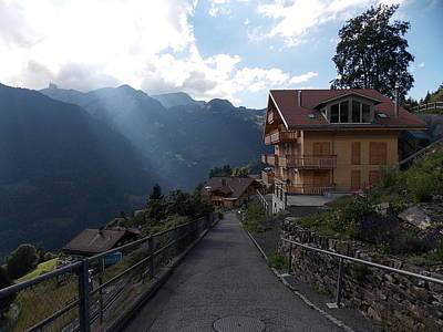 Wengen Photograph - Edge Of Wengen by Nina Kindred