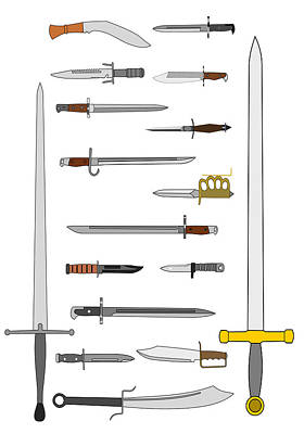 Edged Weapons Art Print