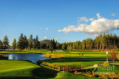 Sports Royalty-Free and Rights-Managed Images - Edgewood Golf Club at sunset by Paul Quinn