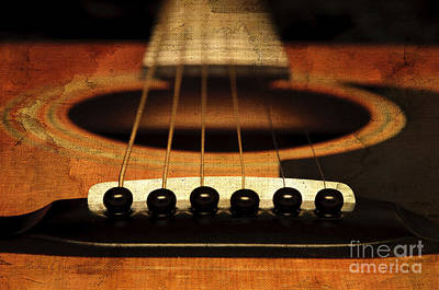 Guitar Photograph - Edgy Abstract Eclectic Guitar 10 by Andee Design