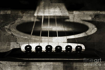 Andee Design Bw Photograph - Edgy Abstract Eclectic Guitar 22 by Andee Design