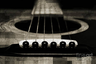 Photograph - Edgy Abstract Eclectic Guitar 25 by Andee Design