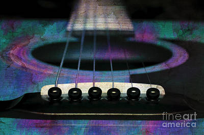 Photograph - Edgy Abstract Eclectic Guitar 26 by Andee Design